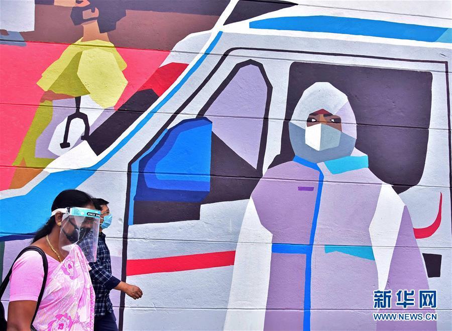 (国际疫情)(2)印度:抗疫宣传壁画