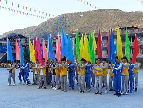 贵州沿河思渠镇初级中学举行第24届冬季运动会
