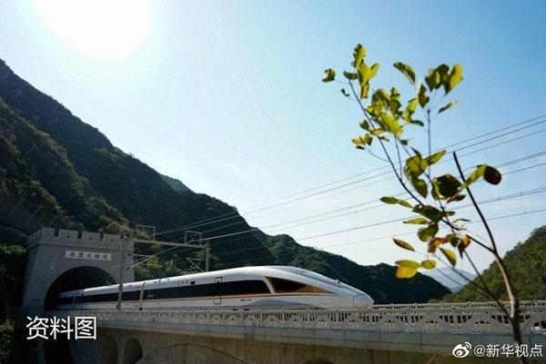 京张高铁延庆支线通车