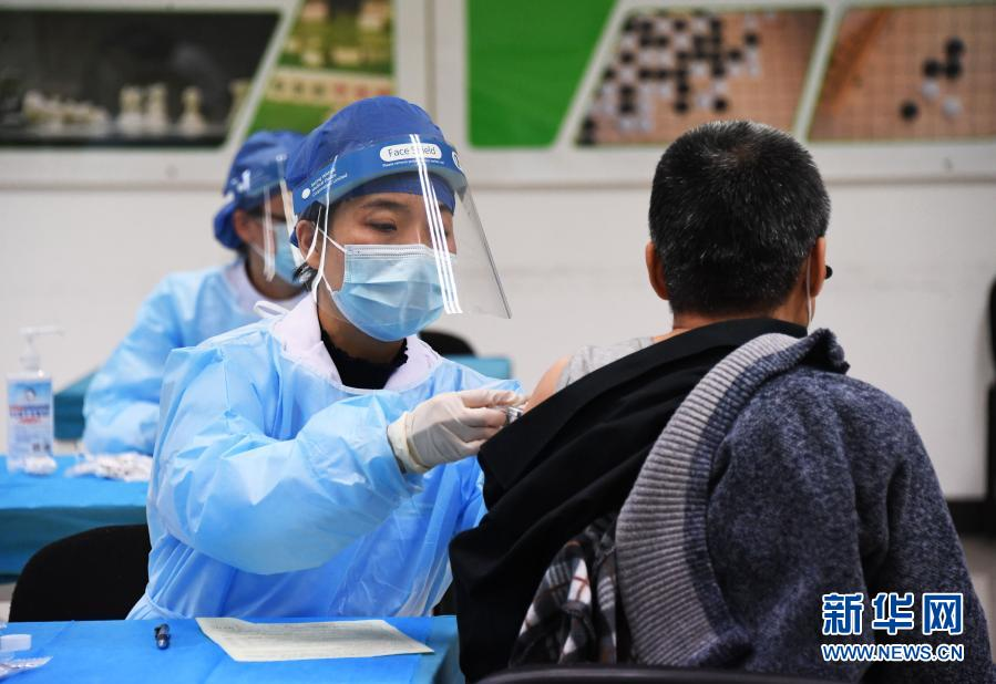 北京市新冠疫苗接种人数突破100万