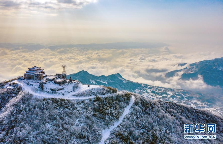 华蓥山雪霁美如画