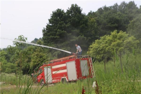 武陵区自然资源局联合河洑镇人民政府 开展森林防火应急演练