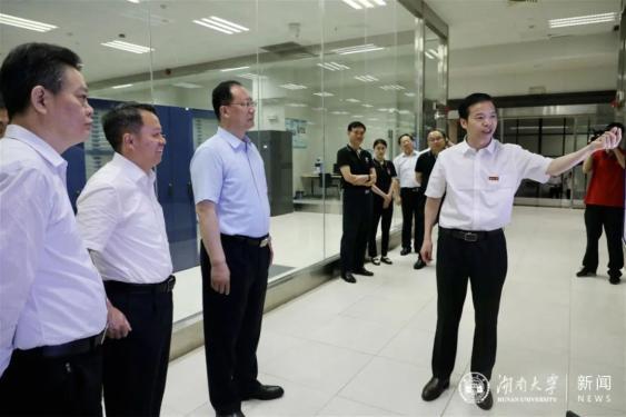 湖南省委副书记、省长毛伟明调研湖南大学