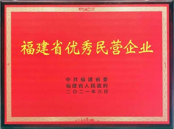 喜报!南孚电池荣获福建省优秀民营企业荣誉称号!