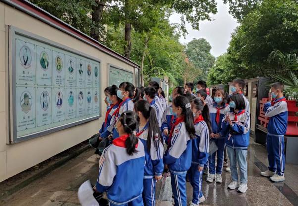 彭州市楠杨学校学生参观禁毒教育基地