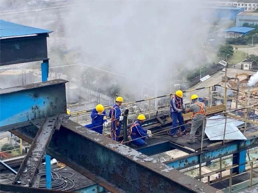 中国五冶集团马钢炼焦总厂5#干熄焦系统年修项目正式开工
