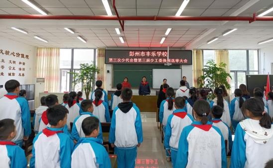 彭州市丰乐学校开展第三次少代会换届选举大会