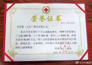 助力东西部协作,巧济堂药业为临夏捐赠53.4万元爱心物资