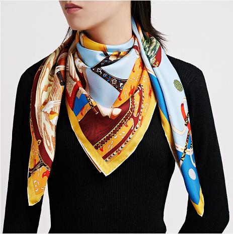 巾帼,见中国 端木良锦晋唐宝马主题丝巾盛装发布