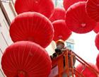 香港街头的中国红
