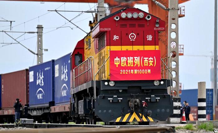 中欧班列(西安)2021年开行突破1000列