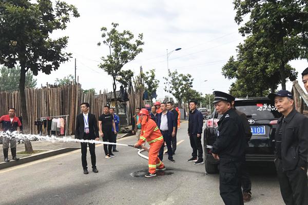 长庚街道消防演练进社区