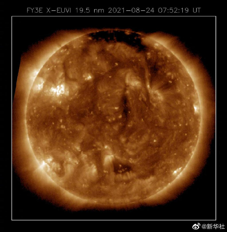 来看看风云三号E星为太阳拍的高清照