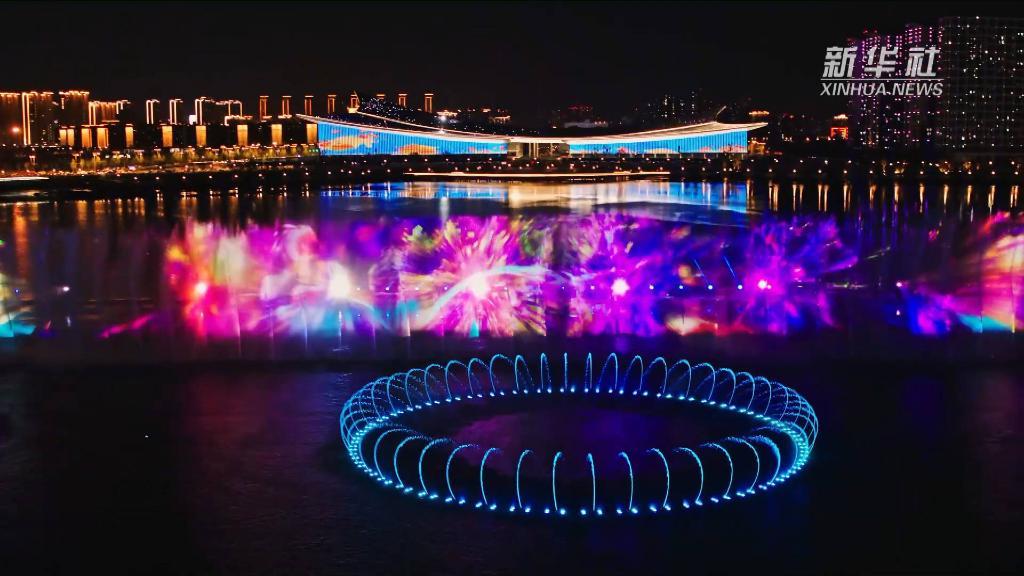 西安奥体光影水舞穿越千年